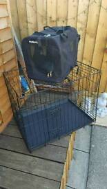 medium dog cage and carrying case