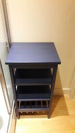 IKEA HEMNES shelving unit in blue