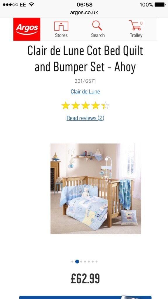 New Claire De Lune Ahoy Cot Bedding Set