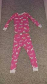 Hatley girls horses pyjamas age 4