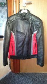 "Mens 40"" 'Kett' genuine leather motorcycle jacket - £25 ono"