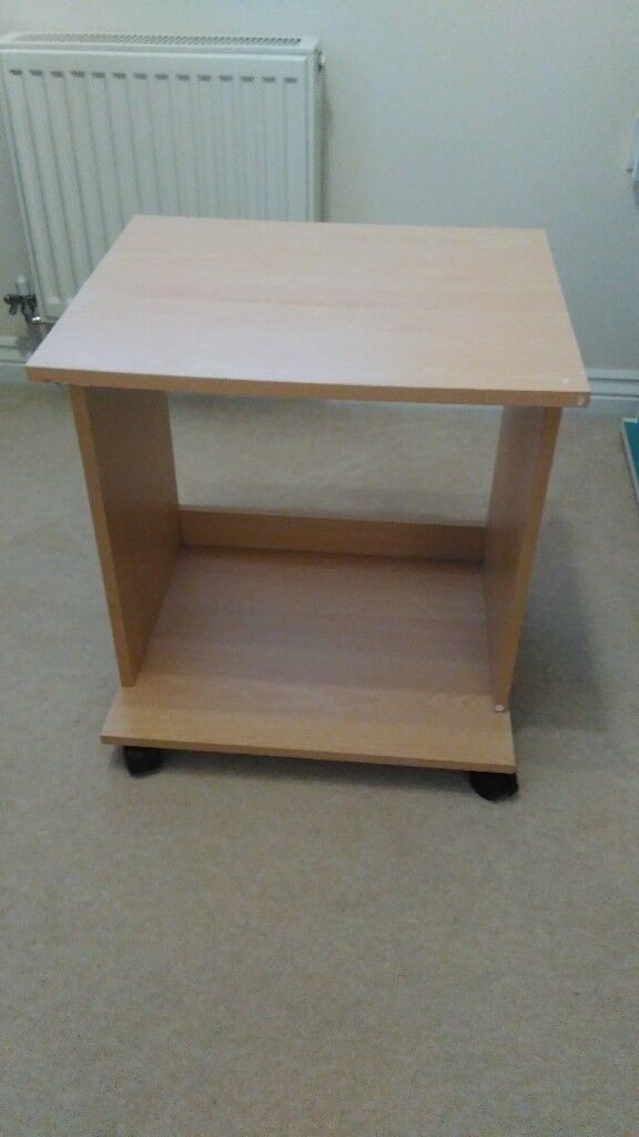 Drawless wheeled desk pedestal / cabinet good condition