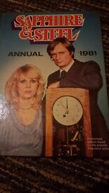 Sapphire and Steel Annual 1981 very collectable