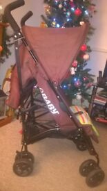 Obaby Atlas brown/lime limited edition stroller