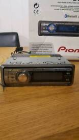 Pioneer car stereo CD player radio hands-free set