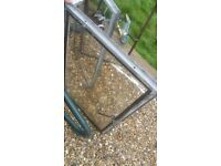 2 x metal windows frames for sheds/Greehouses
