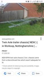 New Twin axle trailer chassis (bargain)