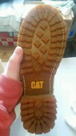 womens brand new sandy/cream catapillar boots size 5.