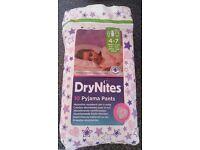 80 Brand New In Packets Drynights Pyjama Pants 4-7years