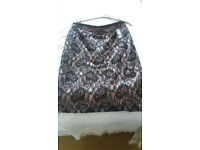 Black lace skirt. size 12.