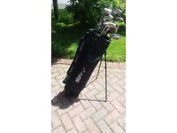 Full set of golf clubs including bag