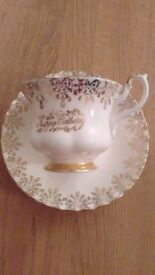 Royal Albert happy birthday cup and saucer