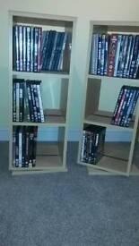 Revolving DVD display units