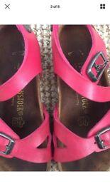 Girls Birkenstock RIO Sandals Pink Size 27/ UK Size 9-9.5