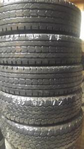 LT235-85-17 GOODYEAR WRABLERS/ FIRESTONE WINTERFORCE (2 PAIRs, ONE SPARE)