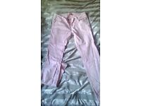 Powder pink colour trousers