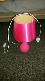 pink lamp with pulb