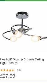 Homebase Heathcliff 3 light ceiling light