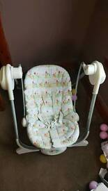 Baby swing,moses basket,baby cot,
