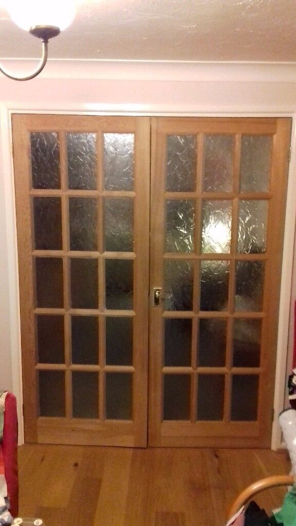 FREE Two Interior wooden doors with 15 glazed panes