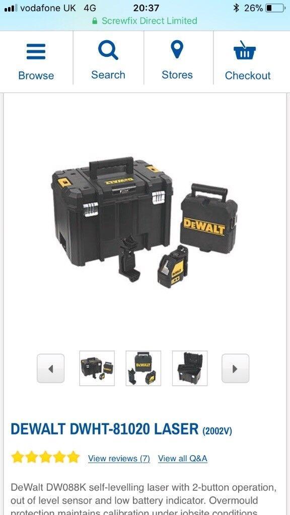 Dewalt laser level DWHT-81020 LASER and dewalt t-stack box