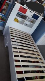 Single cabin bed with ubderbed storage