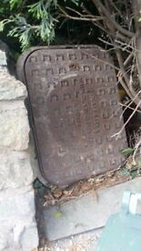 Cast Iron manhole cover with back plate