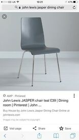 Set of 6 John Lewis dining chairs in slate grey