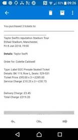 Manchester 8 June 3 x Taylor swift tickets seated together