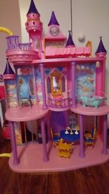 Disney Princess castle with rupunzel hair