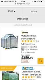 Polycarbonate greenhouse 8x6