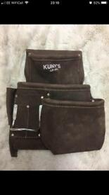 Kuny's roofing pouch made from real taned leather