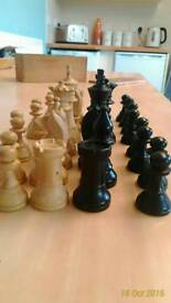 Vintage k and c chess pieces