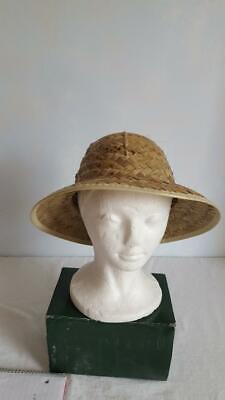 Straw Pith Helmet (ADULT WOVEN STRAW PITH HELMET SAFARI SUN HAT, 24
