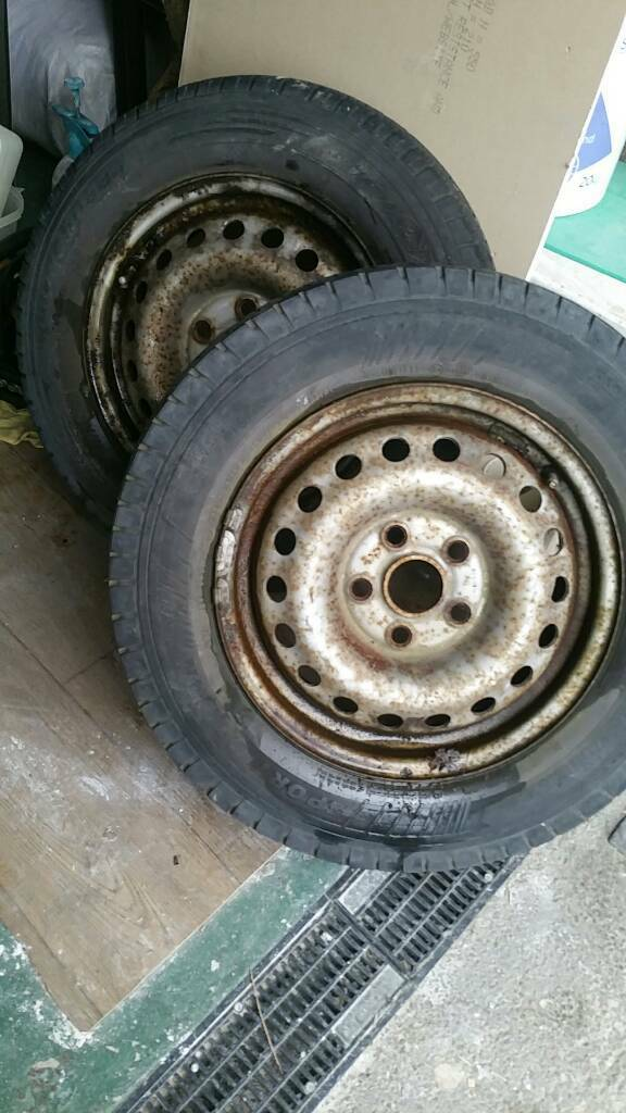2 vw t4 wheels and tyres