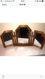 Antique retro shabby chic style mirror/table Mirror