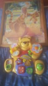 Variety of toys and books