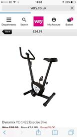 Brand new exercise bike used once