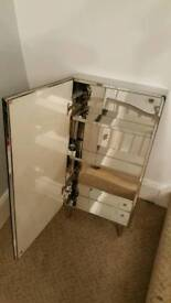 Bathroom cabinet mirrored