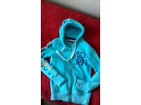 Superdry small zipped hoodie turquois