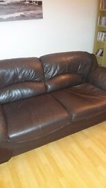 Settee free to collect. Cat scratches on lower parts and a spring brocken on one side of one settee