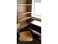 2 Bookcases/desk/chair
