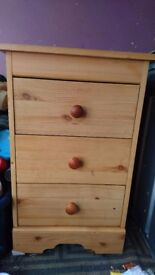 Small pine drawers