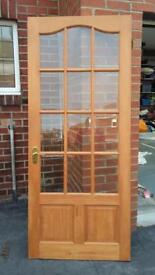 Solid and glazed pine doors