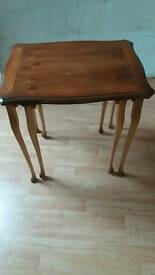 Nest of 2 solid wood tables
