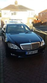 S Class 320 CDi Mercedes Auto in metalic blue, creme leather interior. With every Acc. MOT May 17