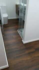 LAMINATE FLOORING SUPPLIED & FITTED GREAT RANGE OF SAMPLES AVAILABLE / SHOP AT HOME SERVICE