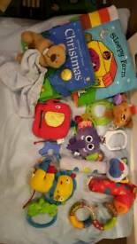 Bundle of first baby toys