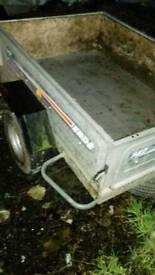 5x 4 galvanised tipping trailer with drop down for easy access