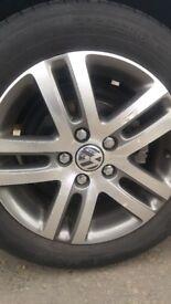 """VW Sima Alloy Wheels - 16"""" Silver Metallic - No tyres"""